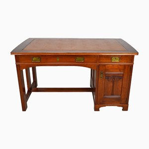 Art Nouveau Desk in Mahogany, by a.b c.e. Jonsson, Sweden, Circa 1900