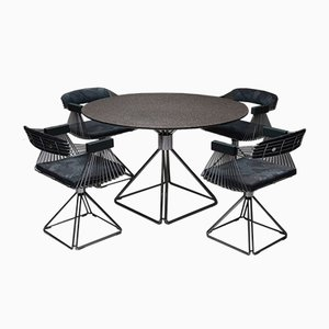 Mid-Century Modern Dining Set by Rudi Verelst for Novalux, 1970s, Set of 5
