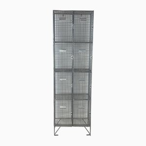 Vintage Mesh Wire School Locker, 1970s