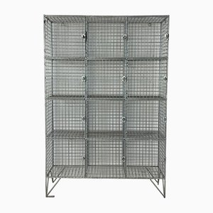 Industrial Mesh Wire Wall Unit, 1960s