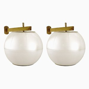 Italian Wall Lights by Galassia, 1960s, Set of 2