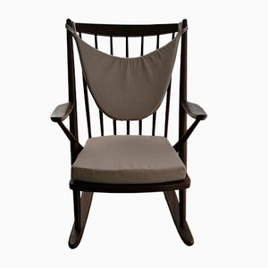 Vintage Danish Rocking Chair by Frank Reenskaug for Bramin
