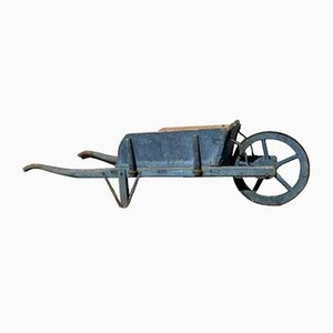 Rustic Blue Wheelbarrow