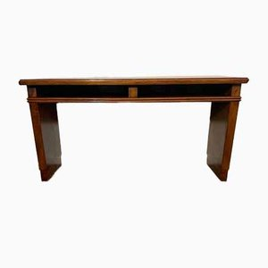 Art Deco Mahogany Console Table with Open Compartments