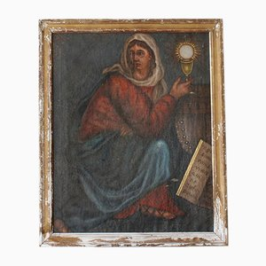 17th-Century Ecclesiastical Oil Painting
