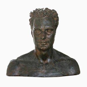Busto de músico Charles Proctor de bronce sintético