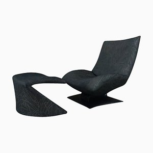Model F7665 Wave Chair and Ottoman by Peter Von Der Ham for Artifort