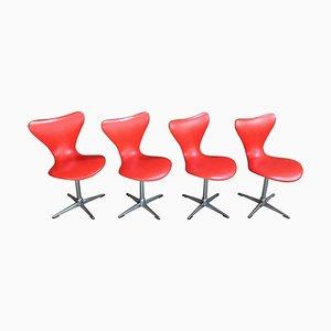 Sillas giratorias de Arne Jacobsen, años 50. Juego de 4
