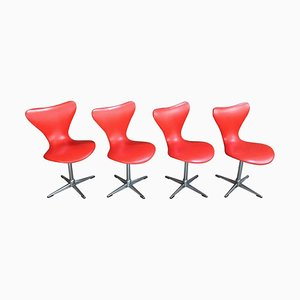 Swivel Chairs by Arne Jacobsen, 1950s, Set of 4