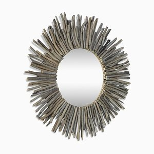 Wood Sun Mirror