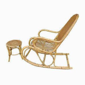 Rocking Chair with Ottoman, Set of 2