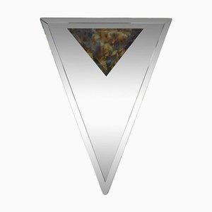Specchio Art Deco triangolare smussato