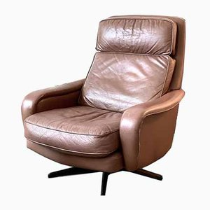 Norwegian Swivel & Rocking Lounge Chair with Ottoman, 1960s
