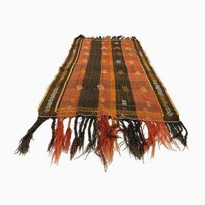Vintage Turkish Brown Terracotta Kilim Runner Rug
