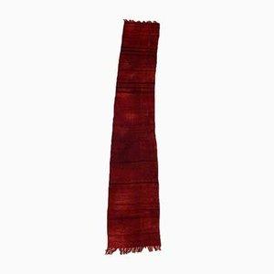 Vintage Turkish Red & Black Kilim Runner Rug