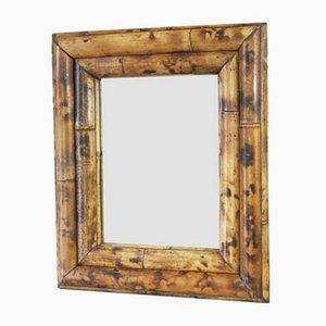 Specchio Mid-20th Century in bambù