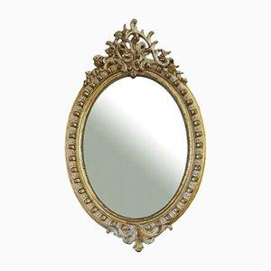 Miroir Doré et Crème, 19ème Siècle