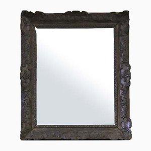Miroir 19ème Siècle en Chêne Sculpté