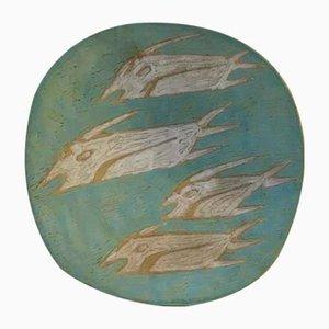 Cuenco surrealista de cerámica de Gorka Livia, años 50