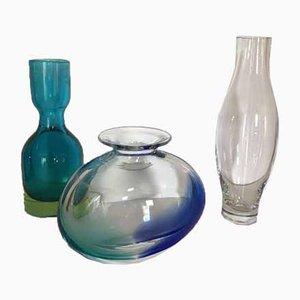 Vasi vintage in vetro di Murano, anni '70, set di 3