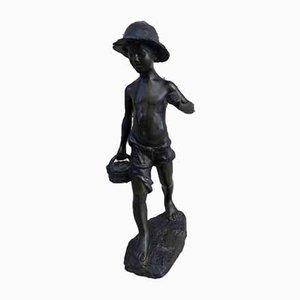 Escultura de bronce, década de 1900