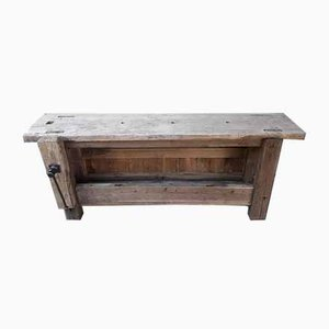 Antique Solid Beech Workbench