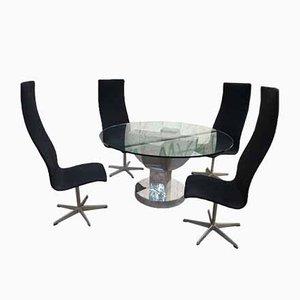 Mesa vintage con 4 sillas, años 70. Juego de 5