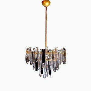 Two-Tone Chandelier in Murano Glass by Paolo Venini, Italy, 1970s