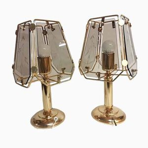 Crystal Table Lamps, 1990s, Set of 2