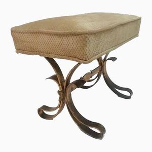 Brutalist Wrought Iron Stool, 1970s