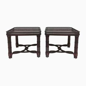 Mesas de té de madera de cedro, años 60. Juego de 2