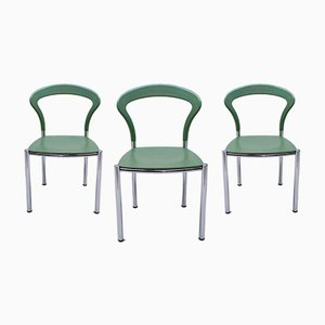 Mint Green Dining Chairs from Kusch + Co, 1990s, Set of 3