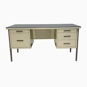 Industrial Desk and Typist Desk, 1950s, Set of 2