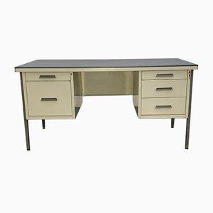 Industrieller Schreib- und Schreibtisch, 1950er, 2er Set