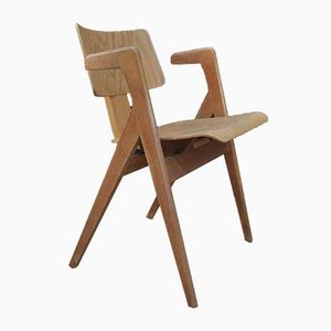Hillestak Oak Armchair by Robin Day for Hille, 1950s