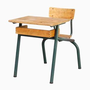 Metal and Wooden School Bench, 1950s
