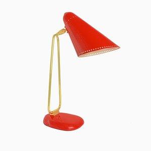 Lámpara de mesa Mid-Century de metal, años 60