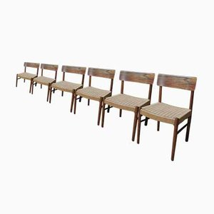 Scandinavian Chairs in Teak and Rosewood, 1950s, Set of 6