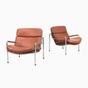 Lounge Fauteuil by Jorgen Kastholm for Kusch & Co, 1970s, Set of 2