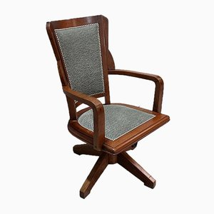 Solid Teak Modular Office Chair, 1930s