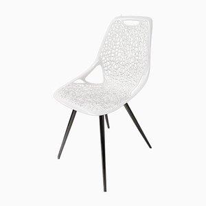 Skandinavischer Vintage Stuhl mit offenem Arm