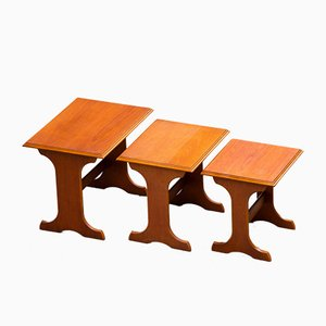 Scandinavian Teak Coffee Tables, Set of 3