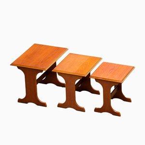 Tavolini da caffè in teak, Scandinavia, set di 3