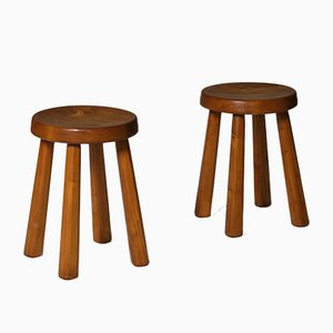 Les Arcs Ski Resort Pine Stools, Set of 2
