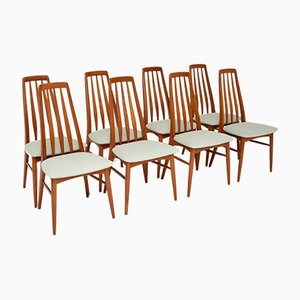 Vintage Danish Teak Dining Chairs by Niels Koefoed, 1960s, Set of 8