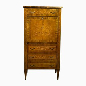 Louis XVI Inlaid Secretaire with Light Walnut Background, 1920s