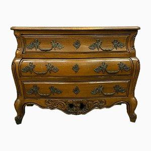 Comò Luigi XV in legno naturale bordato, inizio XX secolo