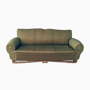 Art Deco Moustache Design 3-Sitzer Sofa, Frankreich, 1930er