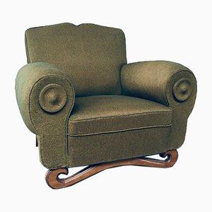 Art Deco Moustache Lounge Chair, 1930s