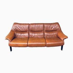 Mid-Century Modern Scandinavian 3-Seater Leather Sofa, 1970s